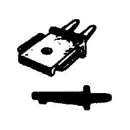 CAL-SCALE 190-246 - STEAM LOCOMOTIVE HEADLIGHT BRACKET