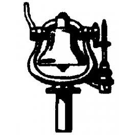 CAL-SCALE 190-285 - STEAM LOCOMOTIVE AIR RINGER BELL WITH BRACKET
