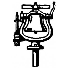CAL-SCALE 190-328 - STEAM LOCOMOTIVE BELL WITH ANTI-ROTATION BAR