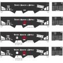 ABERDEEN DECAL THB-8710 - TORONTO HAMILTON & BUFFALO 3 BAY HOPPER