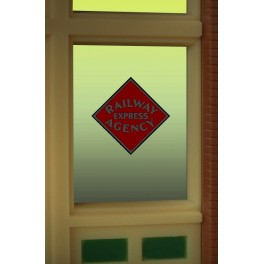 MILLER 8870 - NEON SIGN - RAILWAY EXPRESS AGENCY WINDOW SIGN