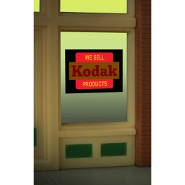 MILLER 8875 - NEON SIGN - WE SELL KODAK PRODUCTS WINDOW SIGN