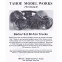 TMW213 - BARBER S-2 50 TON TRUCKS - SEMI-SCALE WHEELSETS