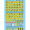 MICROSCALE DECAL 60-1430 - ROAD MARKINGS - PARKING & CLEARANCE SIGNS - N SCALE