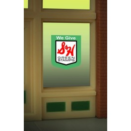 MILLER 8890 - NEON SIGN - S&H GREEN STAMPS WINDOW SIGN