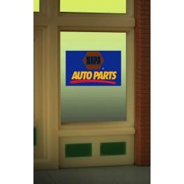 MILLER 8895 - NEON SIGN - NAPA AUTO PARTS WINDOW SIGN