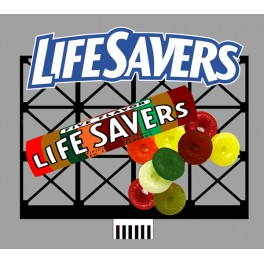 MILLER 88-0851 - NEON SIGN - LIFESAVERS BILLBOARD - LARGE