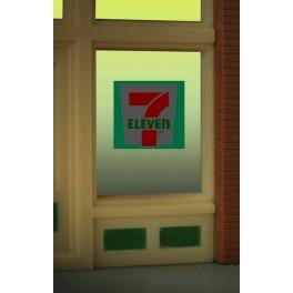 MILLER 8910 - NEON SIGN - 7-11 WINDOW SIGN