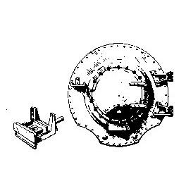 CAL-SCALE 190-278 - STEAM LOCOMOTIVE SMOKE BOX FRONT WITH HEADLIGHT BRACKET