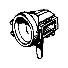 CAL-SCALE 190-327 - STEAM LOCOMOTIVE HEADLIGHT - PYLE FLAT SIDE