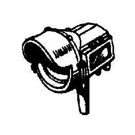 CAL-SCALE 190-331 - STEAM LOCOMOTIVE HEADLIGHT - PYLE FLAT SIDE WITH VISOR