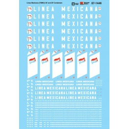 MICROSCALE DECAL 87-1446 - LINEA MEXICANA CONTAINERS