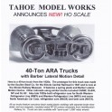 TMW214 - 40 TON ARA TRUCKS WITH LATERAL MOTION - SEMI SCALE WHEELSETS