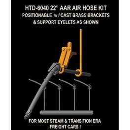 """HI-TECH 6040 - AAR 22"""" AIR HOSES - WITH CAST BRASS BRACKETS"""