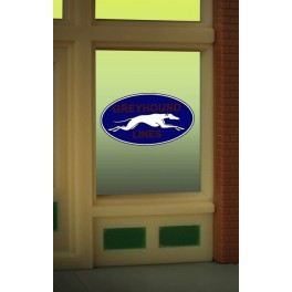 MILLER 8950 - NEON SIGN - GREYHOUND WINDOW SIGN