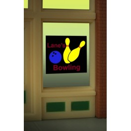 MILLER 8955 - NEON SIGN - LANE'S BOWLING WINDOW SIGN