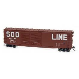 INTERMOUNTAIN 45620-01 - PS-1 DOUBLE DOOR 50' BOXCAR - SOO LINE