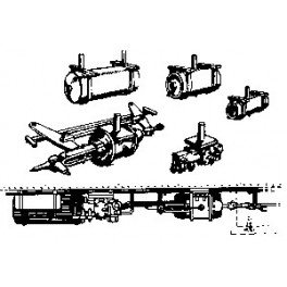 CAL-SCALE 190-300 - PASSENGER CAR UC AIR BRAKE SET
