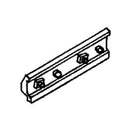 DETAILS WEST JB-922 - 2 BOLT RAIL BAR - FISHPLATE CODE 83/70
