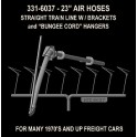"HI-TECH 6037 - AAR 23"" AIR HOSES WITH BUNGEE STRAP HANGERS"