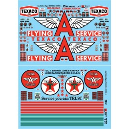 MICROSCALE DECAL 48-434 - TEXACO & FLYING A SERVICE STATION