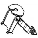 DETAILS WEST TH-1012 - PULLMAN STANDARD CUSHIONED FIXED HITCH
