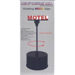 MILLER 55-035 - ROTATING NEON SIGN - MOTEL