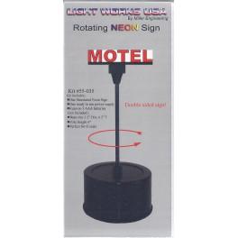 MILLER 55-035 - ROTATING NEON SIGN - MOTEL