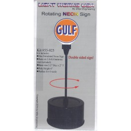 MILLER 55-025 - ROTATING NEON SIGN - GULF