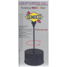 MILLER 55-015 - ROTATING NEON SIGN - SUNOCO