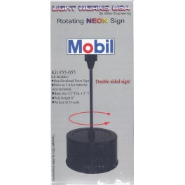 MILLER 55-055 - ROTATING NEON SIGN - MOBIL