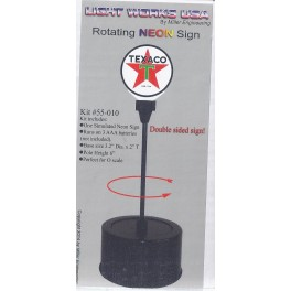 MILLER 55-010 - ROTATING NEON SIGN - TEXACO