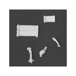 DETAIL ASSOCIATES 6213 - FREIGHT CAR - HANDLES - LATCHES & TACK BOARDS