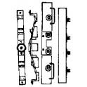 GRANDT LINE 5090 - D&RGW/ RGS SHORT CABOOSE END DETAIL, BOLSTER & NEEDLEBEAM - HO SCALE