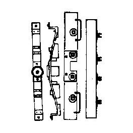GRANDT LINE 5090 - D&RGW/ RGS SHORT CABOOSE END DETAIL, BOLSTER & NEEDLEBEAM