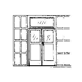 """GRANDT LINE 5136 - DOUBLE DOOR WITH IRON SHUTTERS - 5'5"""" X 9'7"""""""