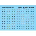 MICROSCALE DECAL MC-5036 - VEHICLE LICENSE PLATES