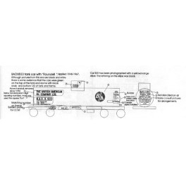 BLACK CAT DECAL - BC103-O - BRITISH AMERICAN OIL TANK CAR