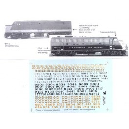 BLACK CAT DECAL - 600-4 - CANADIAN NATIONAL PASSENGER DIESEL LOCOMOTIVE - S SCALE
