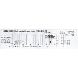 BLACK CAT DECAL - BC192 - BC RAIL WOOD CHIP CAR