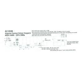 BLACK CAT DECAL - BC184-N - ALGOMA CENTRAL ORTNER HOPPER - N SCALE