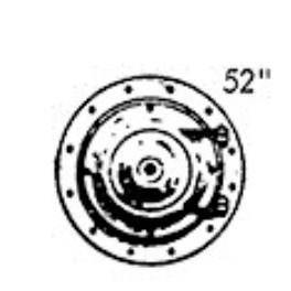"PSC 31680 - STEAM LOCOMOTIVE 52"" SMOKE BOX FRONT - MODERN C-16"