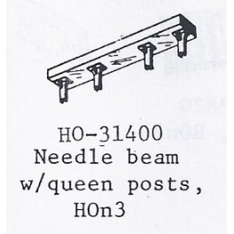 PSC 31400 - NEEDLE BEAM WITH QUEENSPOST - HOn3