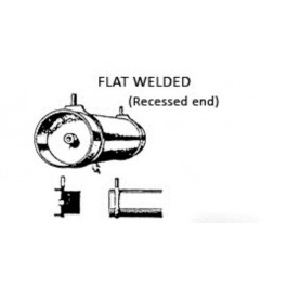 PSC 32095 - AIR TANK - WELDED FLAT RECESSED ENDS
