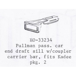 PSC 33234 - PULLMAN PASSENGER CAR END DRAFT SILL WITH COUPLER CARRIER BAR
