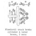 PSC 39100 - DIESEL LOCOMOTIVE EMD FLEXICOIL TRUCK BRAKE CYLINDERS & LEVERS
