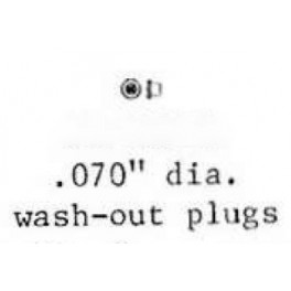 PSC 48275 - WASH OUT PLUG - .060""