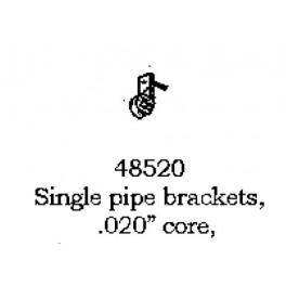 """PSC 48520 - SINGLE PIPE BRACKETS - CORED  .020"""""""