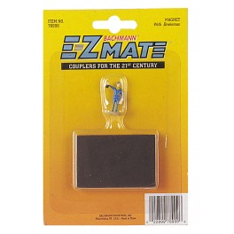 BACHMANN 78999 EZ-MATE UNCOUPLING MAGNET WITH BRAKEMAN FIGURE