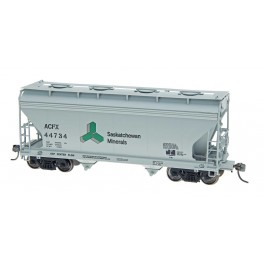 INTERMOUNTAIN 46515 - ACF 2 BAY CENTER-FLOW COVERED HOPPER - SASKATCHEWAN MINERALS
